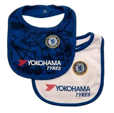 Chelsea F.C. 2 Pack Baby Bibs cm Blue