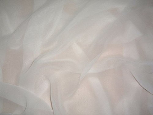 Puresilks White 100% Silk Chiffon Fabric 44 Inches (Silk Fabric Chiffon)