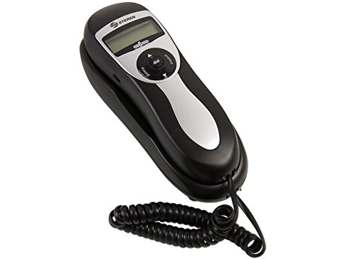 Steren Trimline Telephone with Caller ID and 90-Number Memory - Black