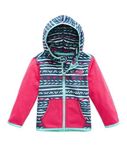 The North Face Kids Unisex Glacier Hoodie (Infant) Blue Wing Teal Linocut Print 12-18 Months