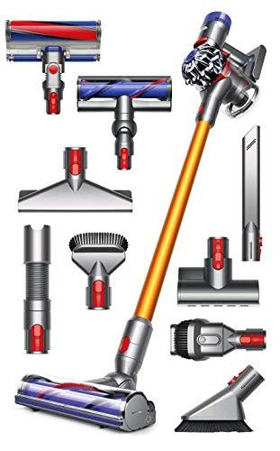 Dyson V8 Absolute Cordless HEPA Vacuum Cleaner + Manufacturer's Warranty + Quick Release Extension Hose + Stubborn Dirt Brush + Mattress Tool Bundle ()