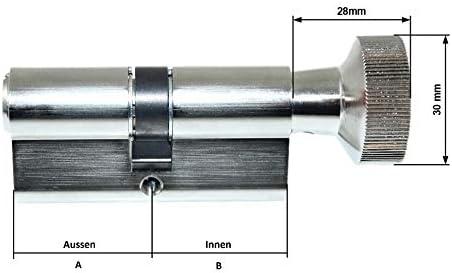 BKS Profil 40//31 Knaufseite Schlie/ßseite Knaufzylinder PZ 8806 Baul/änge: auch Gleichschlie/ßend m/öglich Hinweistext beachten ! 40//30