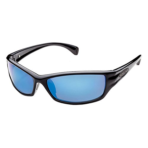 Suncloud Hook Black/Blue Mirror Polarized Sunglasses Black Blue Mirror One - Polarizedsunglasses