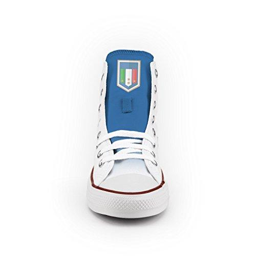 Converse All Star Personnalisé et Imprimés - chaussures à la main - produit Italien - Blue Italy