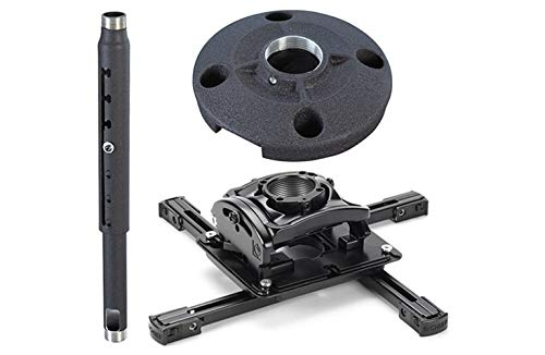 Plate Projector Flush Ceiling Mount (Chief KITQD0305 Projector Mount Kit, Includes RPMAU Elite Universal Projector Mount, CMS0305 3-5' Adjustable Extension Column, CMS115 6