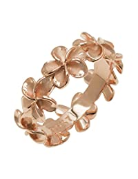 Plumeria Eternity Ring with14K Rose Gold Finish