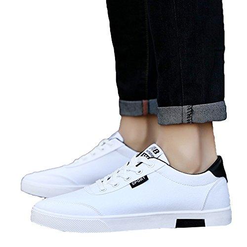 Moda Primavera per Scarpe Uomo Classic Stringate Yying per Adolescenti Casuale Traspirante Bianca Scarpe Autunno Scarpe Sneakers Basse Canvas wqxzZAIf