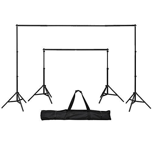 GTAPhotoStudio 8ft (H)x 10ft (W) Telescopic Backdrop Background Stand Support Kit