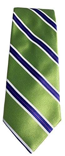 on Stripe Silk Tie, Size Regular - Green (Baker Striped Tie)