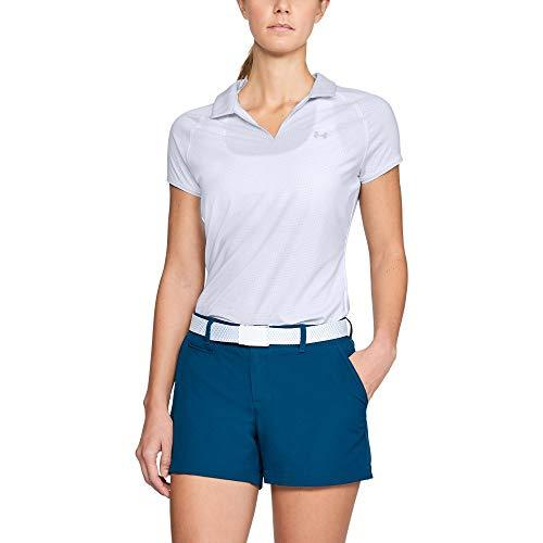 Under Armour Women's Threadborne Polo, White (100)/White, Medium ()