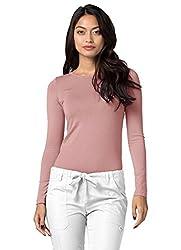 Adar Womens Comfort Long Sleeve T-shirt Underscrub Tee - 2900 - Bls - L