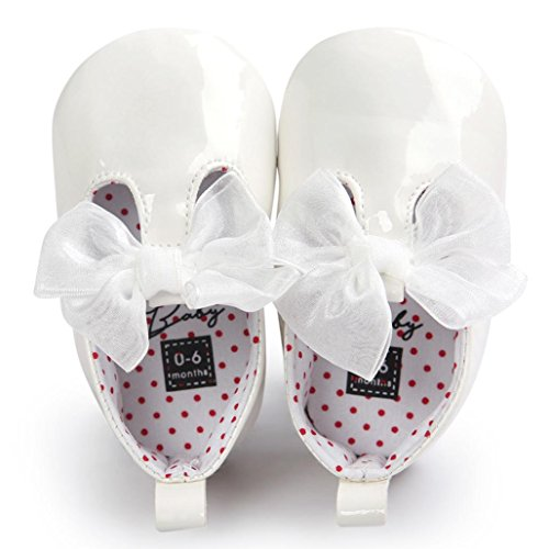 d1370c4fd941e Voberry Toddler Baby Girls Boy s Sneaker Moccasins Anti-slip Soft Sole Bow  Shoes (0~6Month