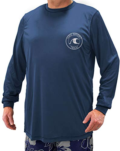 - H2O Sport Tech Swim Shirt - Long Sleeve Navy 3XL #908B