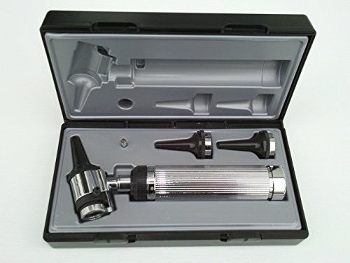 Lane Otoscope with Pneumatic Air Pump for Insufflation and spare Halogen Bulb. Can use both Reusable and Disposable Specula by using an adapter (supplied with the unit) by Lane (Image #2)