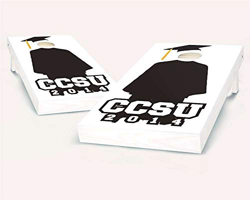 Floating Pong Cap & Gown Graduation Cornhole Boards, Includes All Weather Bags