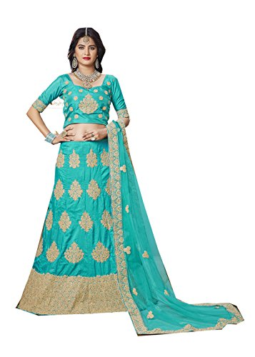 Da Facioun Indian Designer Partywear Ethnic Traditional Green Lehenga Choli by Da Facioun