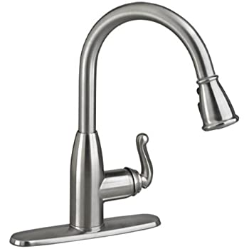 American Standard Symphony Single Handle Pull Down Sprayer Kitchen Faucet  In Stainless Steel