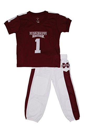 FAST ASLEEP Mississippi State Uniform Pajama Set New