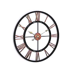 Porch & Den Modern & Contemporary Aged Copper and Black Wall Clock