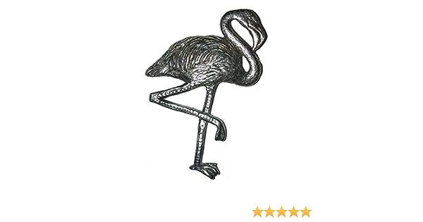 Flamingo Pewter Brooch Pin Badge