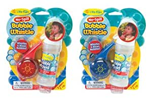 No-Spill Bubble Whistle by Little Kids (assorted colors, red or blue)