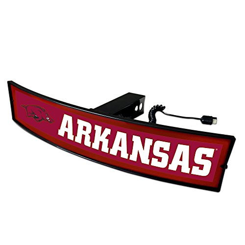 Fanmats NCAA Arkansas Razorbacks 20032 Light Up Hitch Cover, One Size, Team Colors