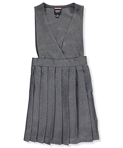 French Toast Criss Cross Pleated Jumper - gray, (Criss Cross Pleated Jumper)