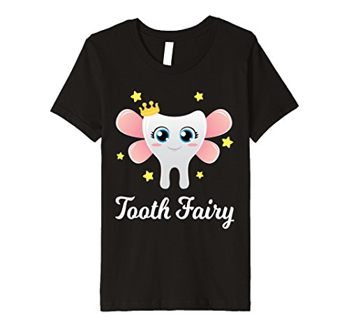 Children's Tooth Fairy Costume (Kids Tooth Fairy Premium T-Shirt Halloween Costume Gift for Kids 8 Black)