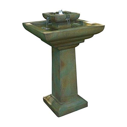 Henri Studio 3 Piece Falling Water Fountain, Relic Nebbia (Stone Patio Over Concrete)
