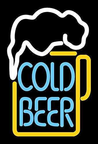 Cartel de Chapa genérica 20 x 30 cm Cold Beer Neon Cerveza ...
