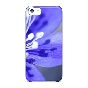 Hot Tpye Beautiful Purple Flower Case Cover For Iphone 5c