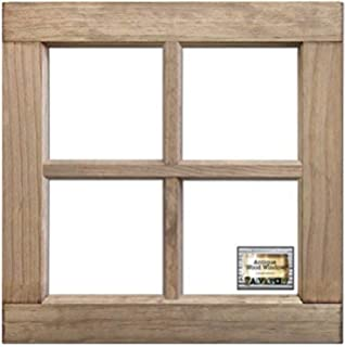 BCI Crafts salvaged 4-Pane Madera Frame-Weathered de Ventana de Madera 16 x