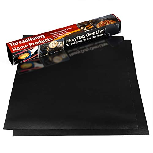 2 Pack Large Thick Heavy Duty Non Stick Teflon Oven Liners Mat, 17
