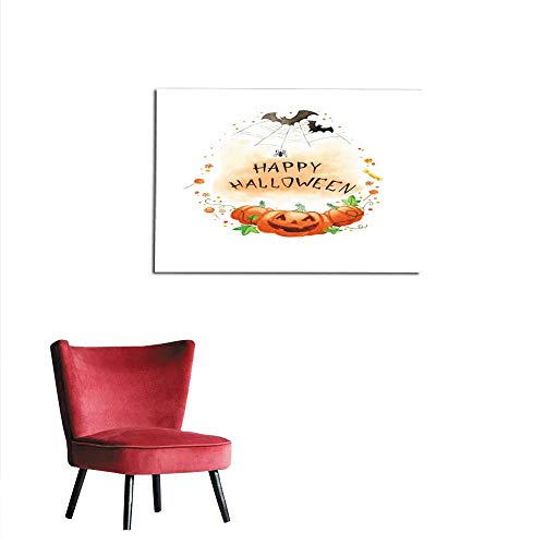 All of better Wall Sticker Decals Watercolor Painting Happy Halloween Frame Mural 32