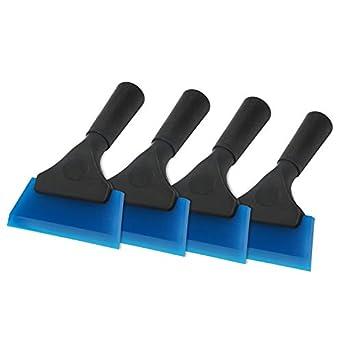4 limpiaparabrisas Azample de goma de silicona de 5 pulgadas, rasqueta de hielo para coche, RV, parabrisas, ducha, baño, sala de juegos: Amazon.es: Amazon. ...