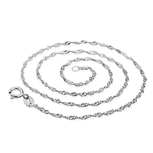 Sterling Singapore Twisted Hypoallergenic Necklace product image