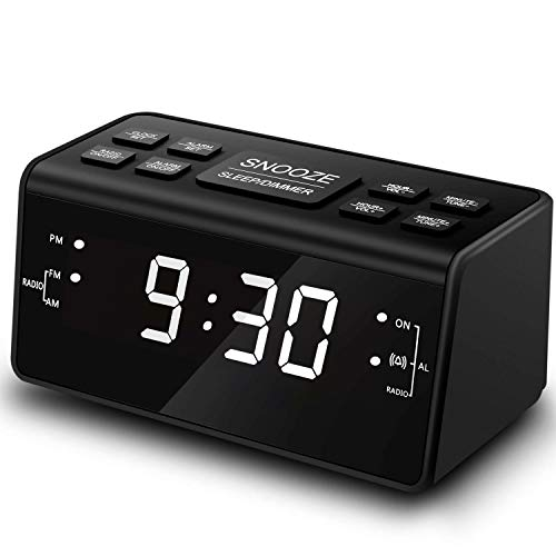 Clock Radio, Digital AM FM Alarm Clock Radio for Bedroom Guestroom or Livingroom