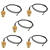 uxcell 5 Pcs RF0.81 Soldering Wire IPEX4 to RP-SMA Antenna WiFi Pigtail Cable 30cm Long for Router