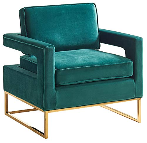 Meridian Furniture 511Green Accent Chair, Green