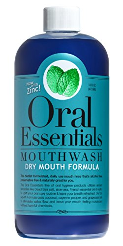[Oral Essentials Dry Mouth Mouthwash 16 Oz. Certified Non-Toxic & Dentist Formulated and Recommended] (Medications Dry Mouth)