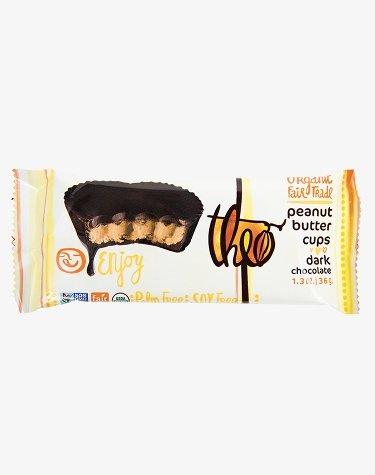 Theo Organic Dark Chocolate Peanut Butter Cups, 2 Cups, 1.4 Oz, (Pack of 12) Vegan, Kosher