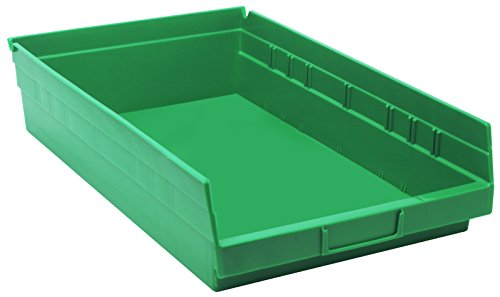 Quantum Storage Systems QSB110GN 4' Economy Shelf Bins, 17-7/8' x 11-1/8' x 4', Green (Case of  8)