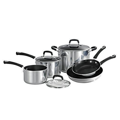 Tramontina Style 80132/031DS Aluminum Non-stick Polished Cookware Set, 8-Piece, Made in USA (Cookware Stainless Tramontina Steel)