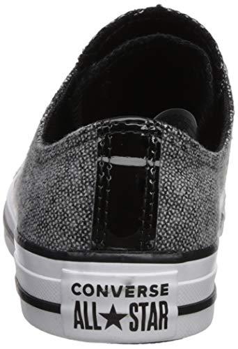 White Canvas Tongue Black Converse Formatori Donna Double Ox Ctas tXxCT8qCw
