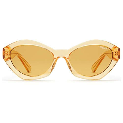 Quay x Kylie Jenner As If Sunglasses | Cat Eye Frames - Vintage Lens | UV Protection (Orange, - Kylie Glasses Jenner
