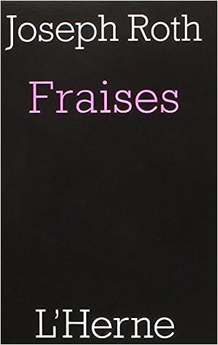 En ligne Fraises : Suivi de deux Fragments epub, pdf