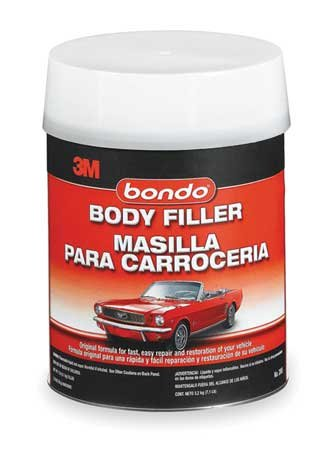 Bondo Body Filler W Hardener, Paste, 1 Gal, Gray