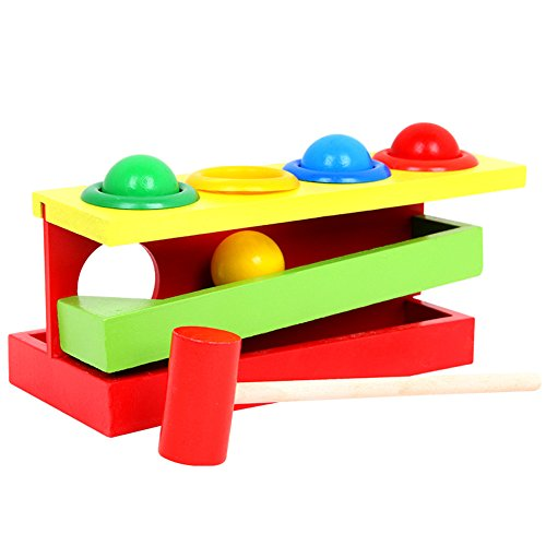 Ireav Wood Sound Knock Beat Balls Wood Material Educational Toys For Children Orbital Rolling Ball Baby Ping Pong Table by Ireav
