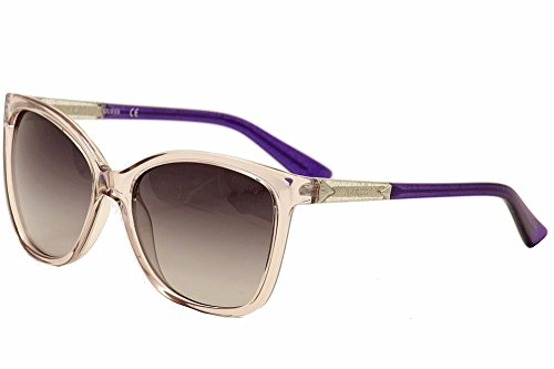 GUESS Women's Acetate Square/Cat-Eye Cateye Sunglasses, 81B, 58 mm