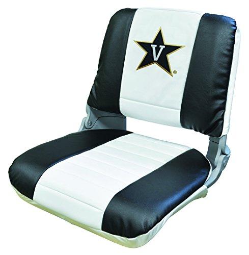 Wise NCAA Vanderbilt Commodores Collegiate Pro-Style Fishing Boat Seat, Black/White, One (Ncaa Embroidered Black Vinyl)